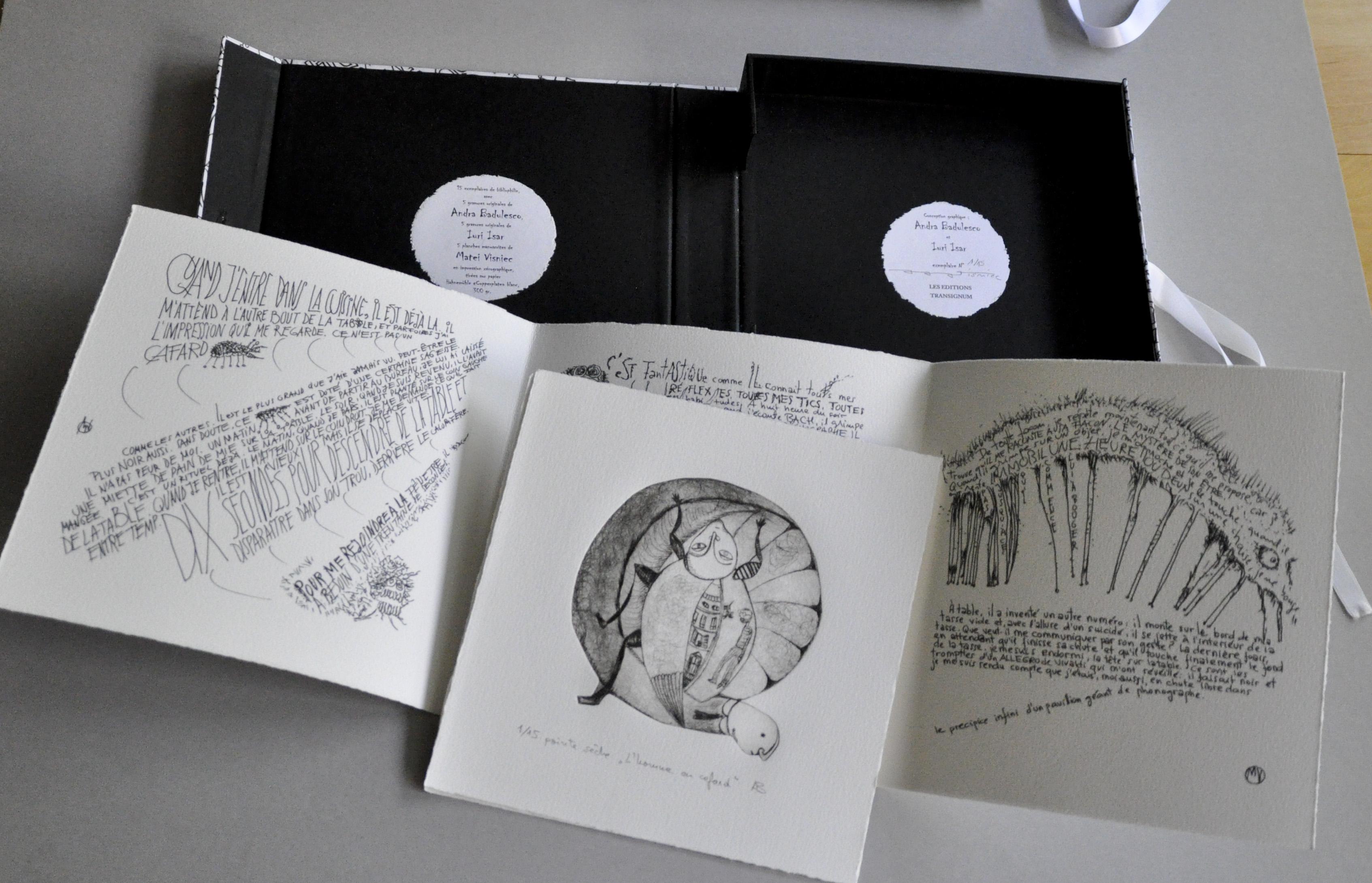 Livre d'artiste en tirage limité, avec des textes de Matei Visniec