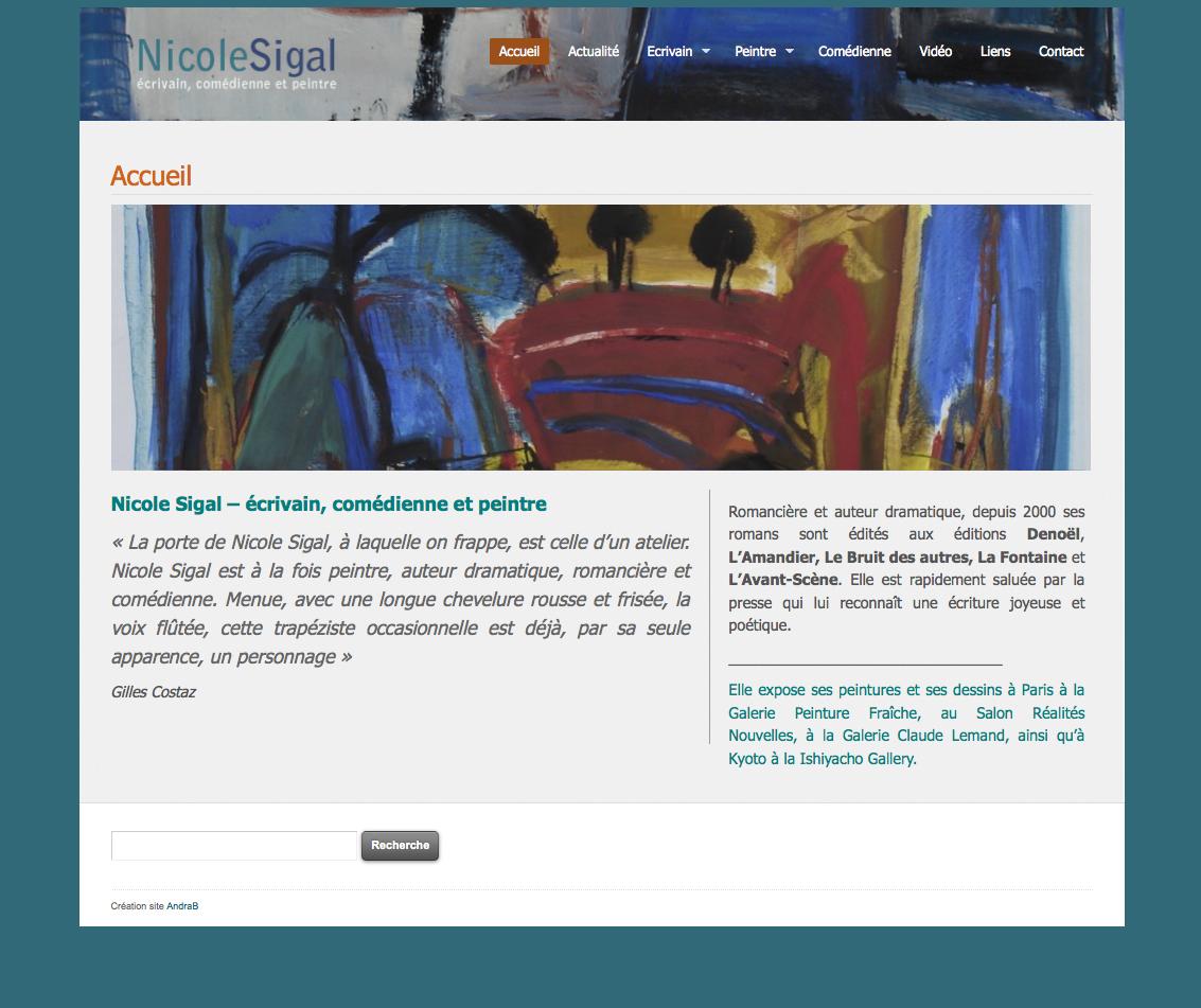 Nicole Sigal - ecrivain et peintre
