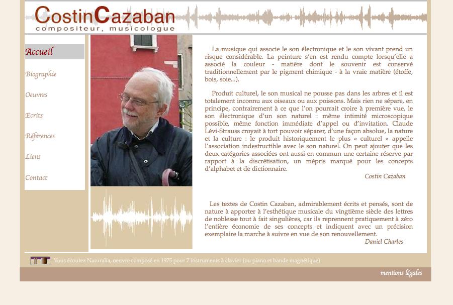 Costin Cazaban - compositeur