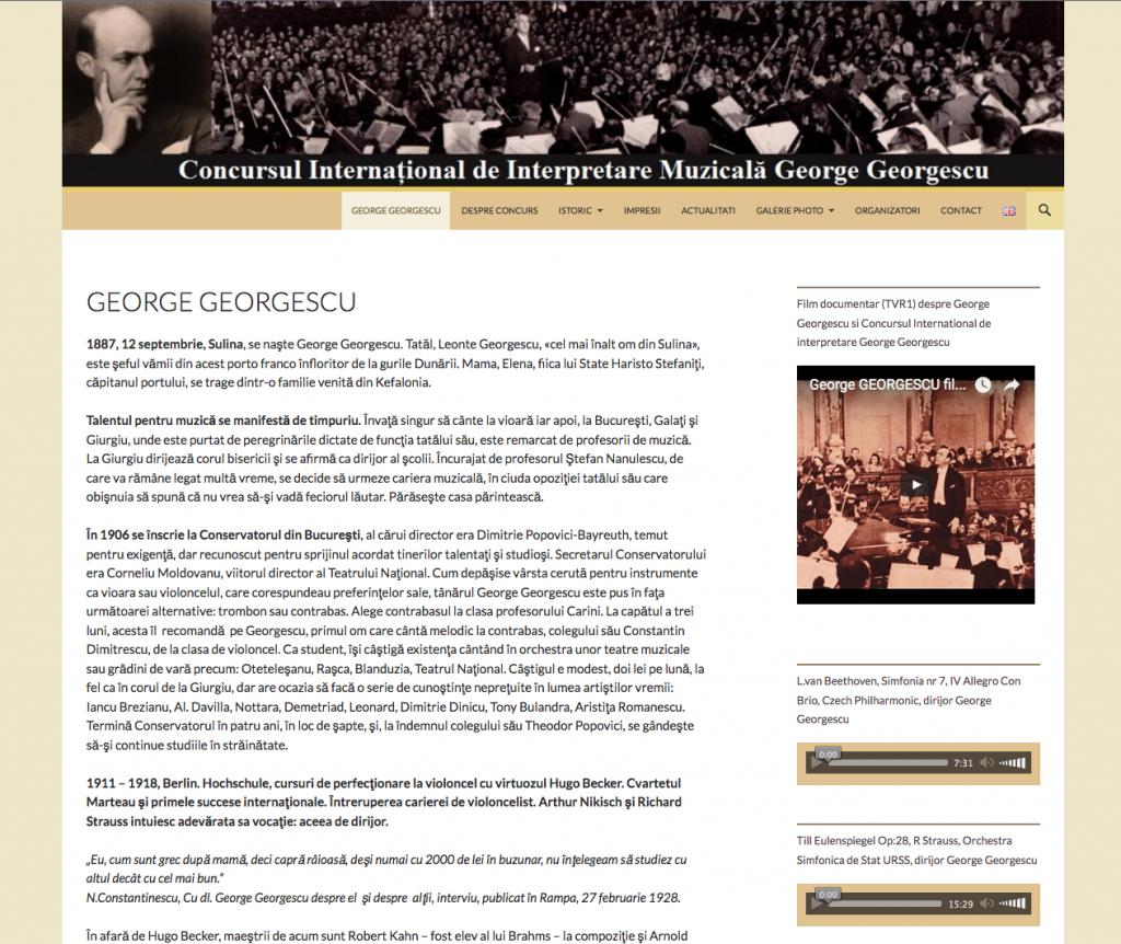 site concursul george georgescu